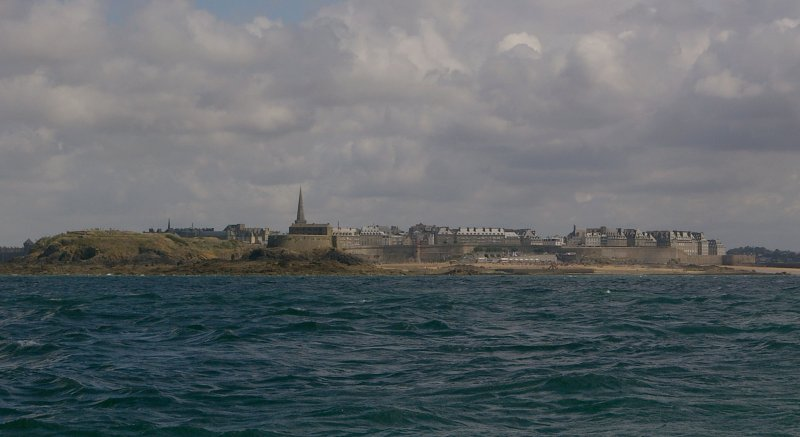 St Malo's walls from the sea.