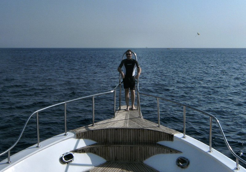 Me on the dive boat on my last day
