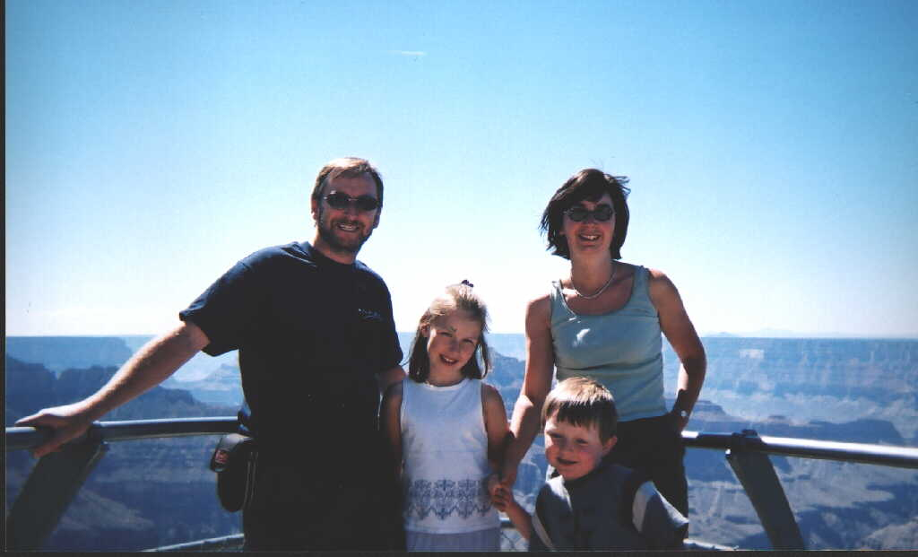 Us at the Grand Canyon 2002