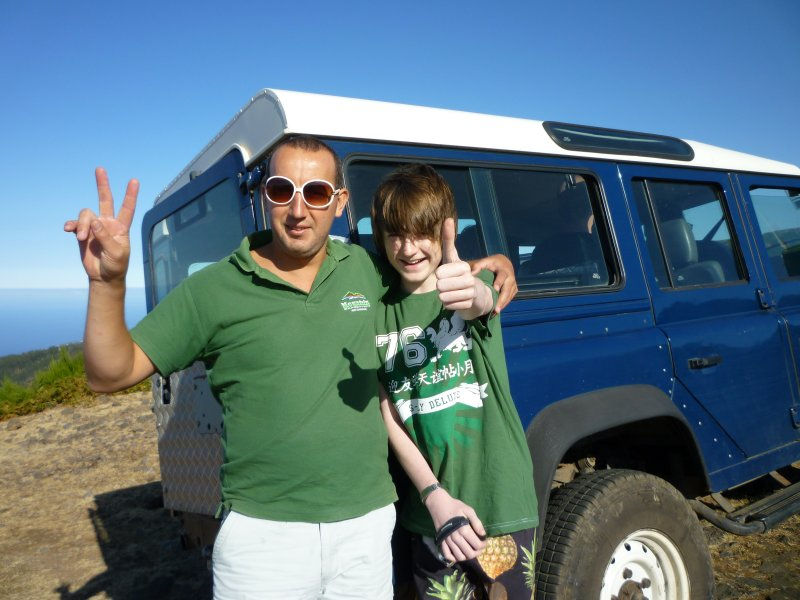 Steve, Ryan and Landrover