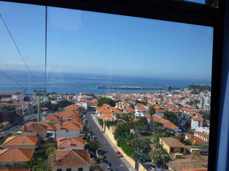 View over Funchal from Cable car
