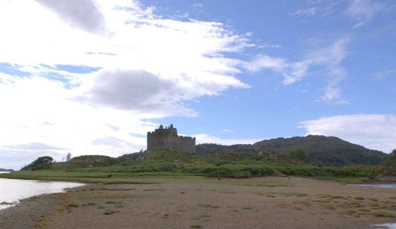 Castle Tioram is set in a picturesque bay.