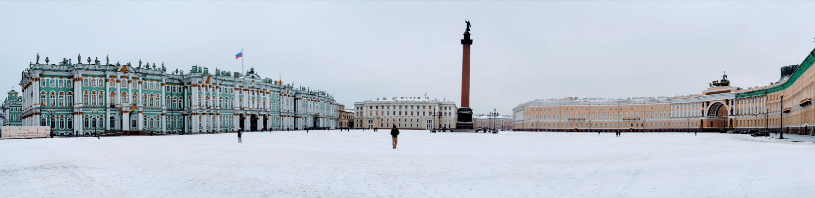 Palace Square, St Petersburg, January 2018